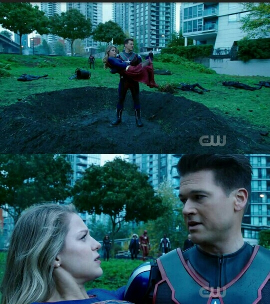 Feel's like Supergirl's team should recruit NATE for catching Kara when she falls from sky.....