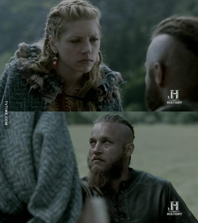 I cried a lot.  I loved this two.  Ragnar, you don't deserve such a powerful woman.   Now, deal with that witch