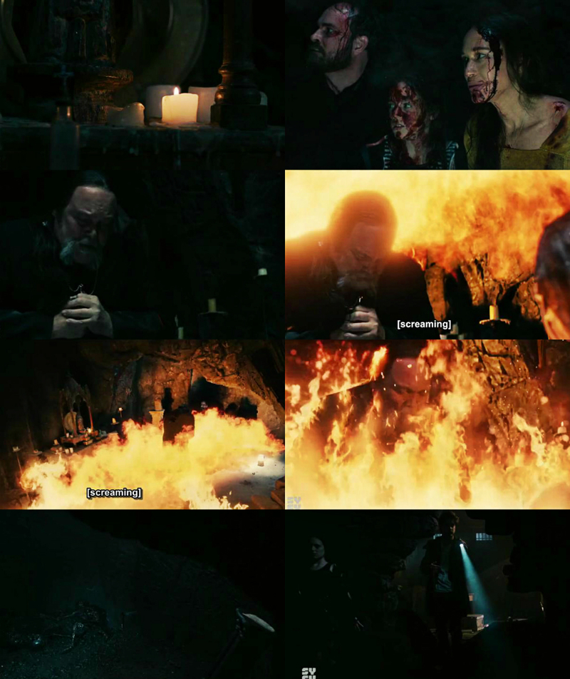 Seriously epic! 😳🔥 I can't believe Father Dan did that, he was truly brave and he finally did the right thing. But, what the fuck about that little girl being alive after what happened?! All the effort and the struggle of the father to save the people from demons and ghosts could not be in vain?! I refuse to accept it, I want to know if the girl who survives will still be bad or good, and why she survives, it's all very intriguing and I hate that they leave so many unknowns to the spectator. I hope they give us more answers!