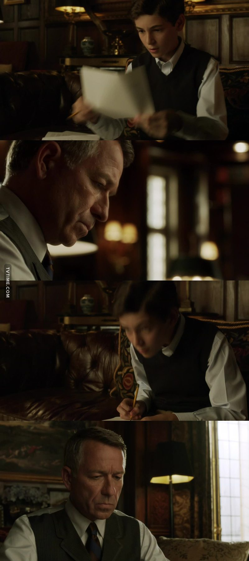 When the little boy teach an adult man. Alfred is so protective with Bruce like a father with a son.