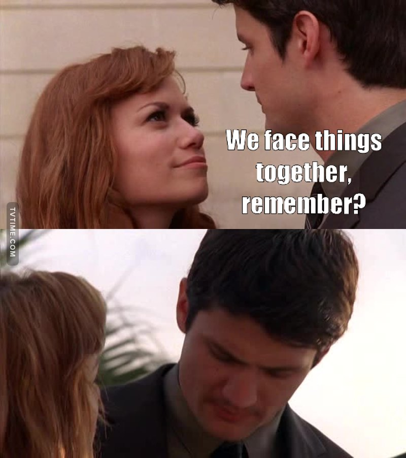 Relationship goals. I just hope so badly that Nathan is telling the truth 😭