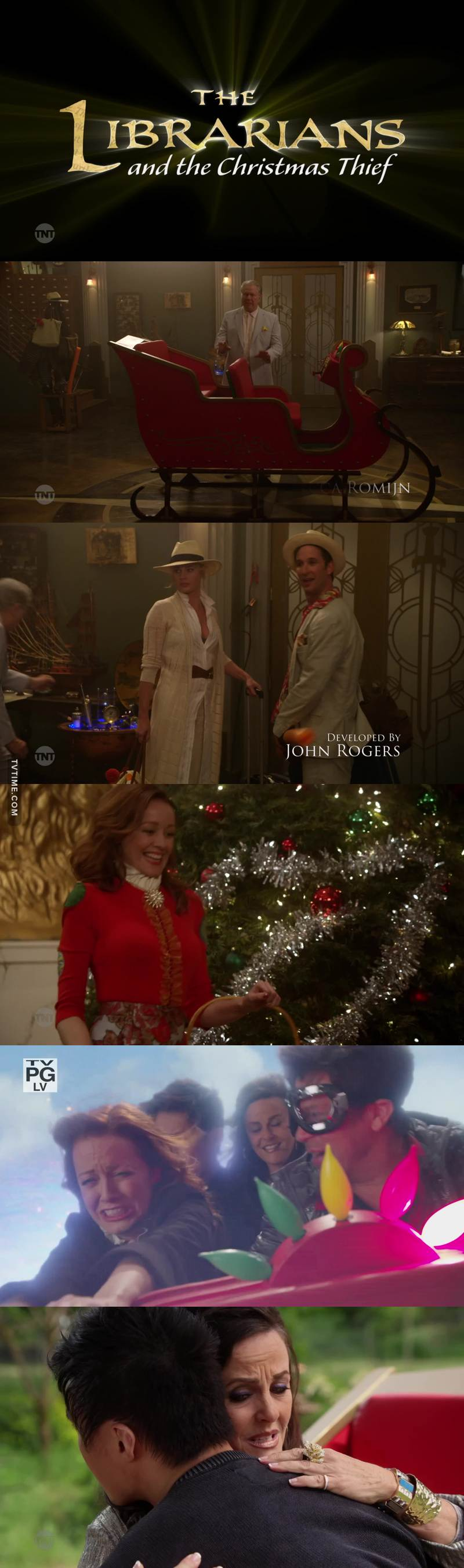 Wonderful episode! Full of Christmas cheer! I loved the scene when they were flying with the sleigh and the one when Ezekiel and his mom gave back the stolen gifts!