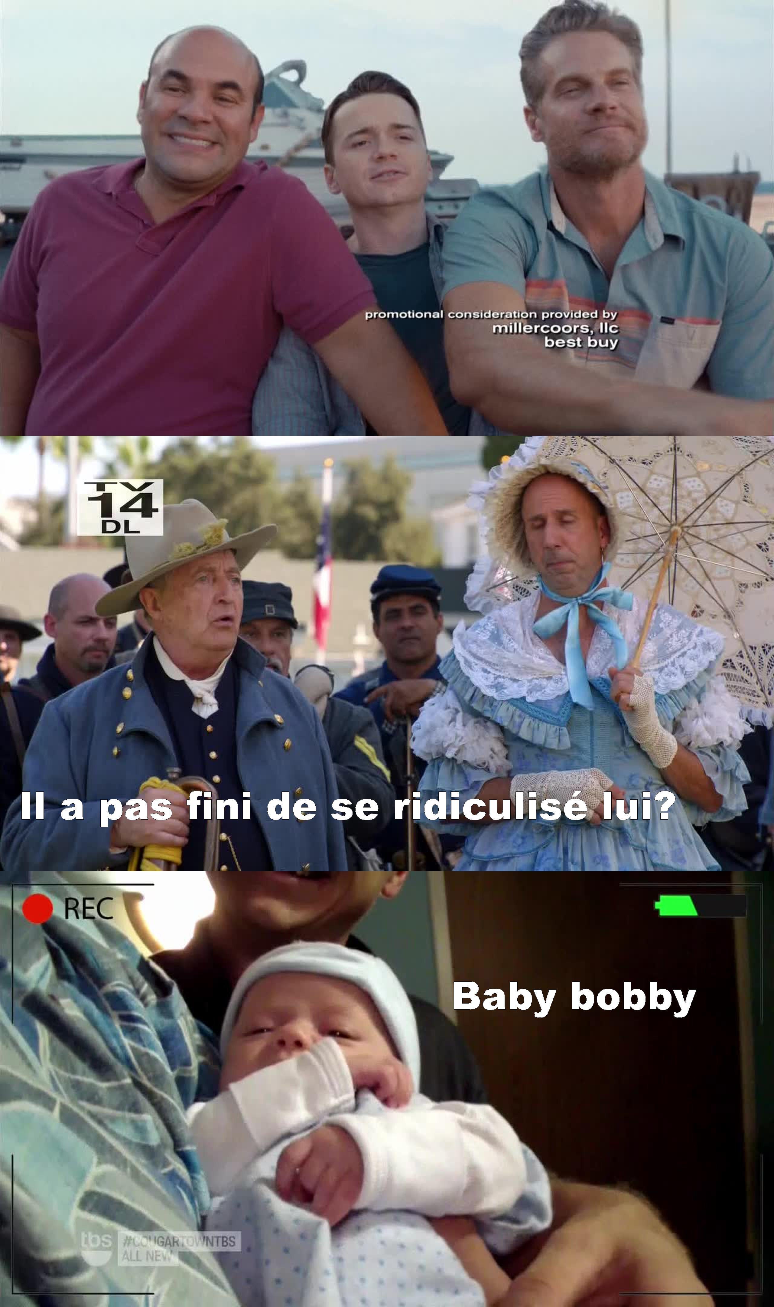 C'est des fous ces deux ils ont été trop marrant dans cet épisode mais pourquoi il part Bobby j'adore son personnage :(