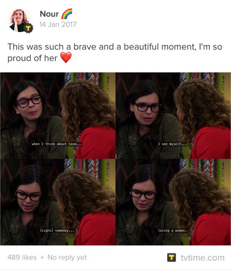 Repost :   I'm gonna go cry now 😭💕🌈 Elena; a feminist who likes girls #relatable