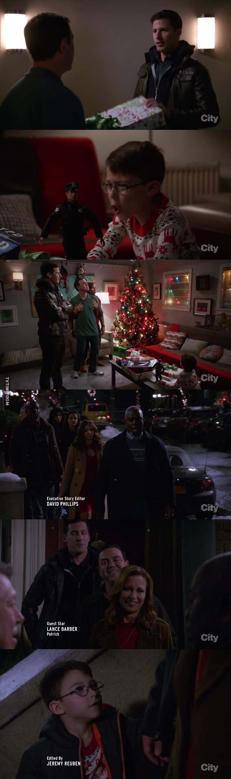 That was a lovely episode with Boyle doing everything for his son and the whole squad singing behind of their house!!! 😍👍❤