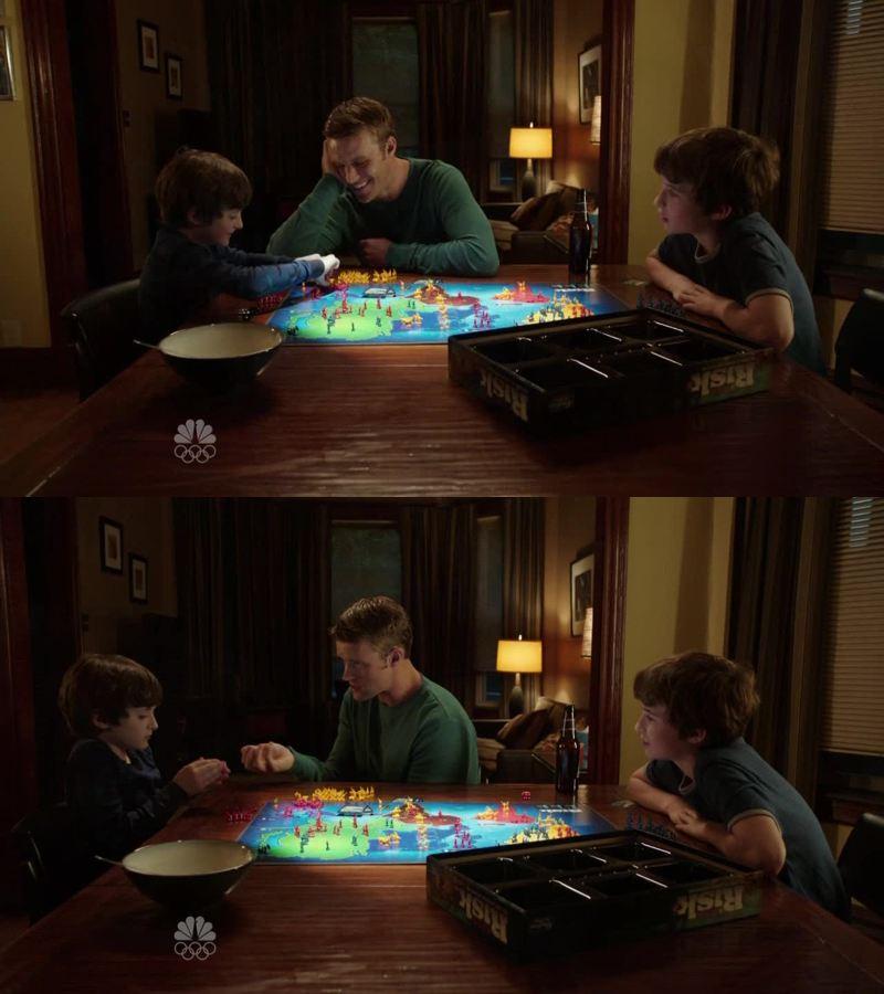 Trop mignon Casey en père de famille !! Une belle scène de vie de famille 💚