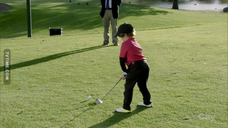 How come he can be such a good good player... I took so long to learn golf...