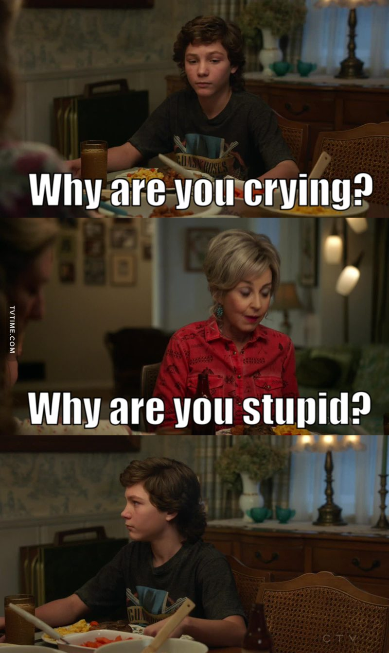 This was one of my favourite lines. I love how MeeMaw sometimes says exactly what we are thinks lol