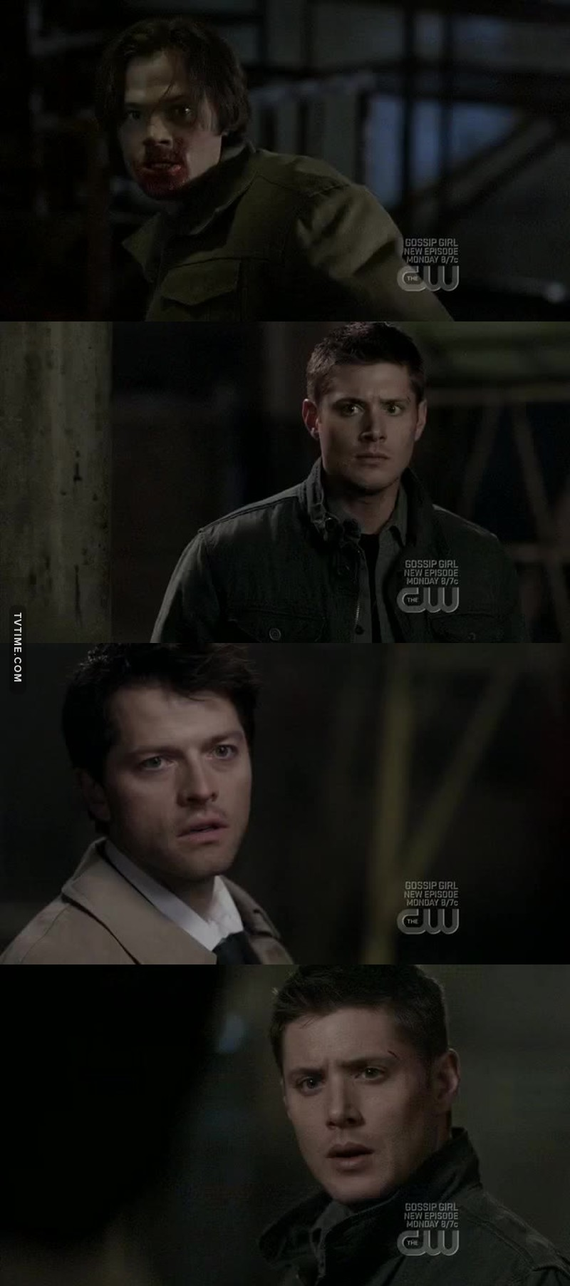 I don't know what's more heartbreaking for Dean, Seeing Sam drinking demon blood or Castiel talking to him that way 😢