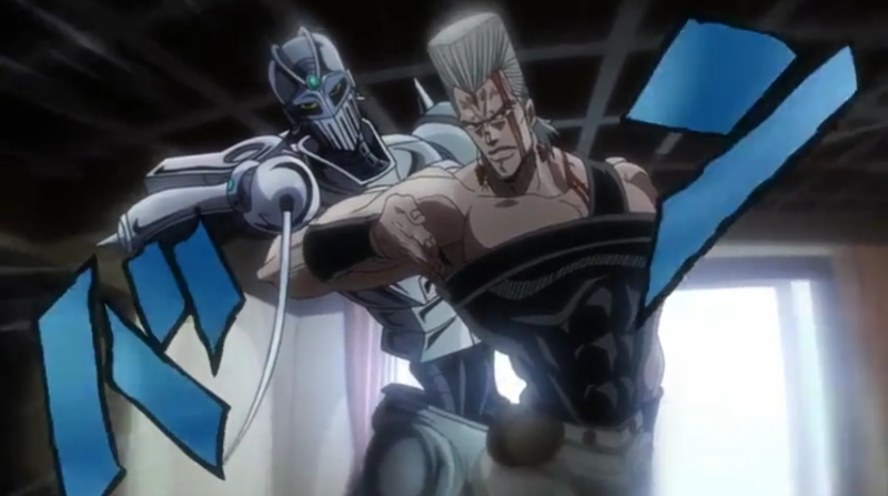 Amazing skills Polnareff! He has my favourite stand of all.