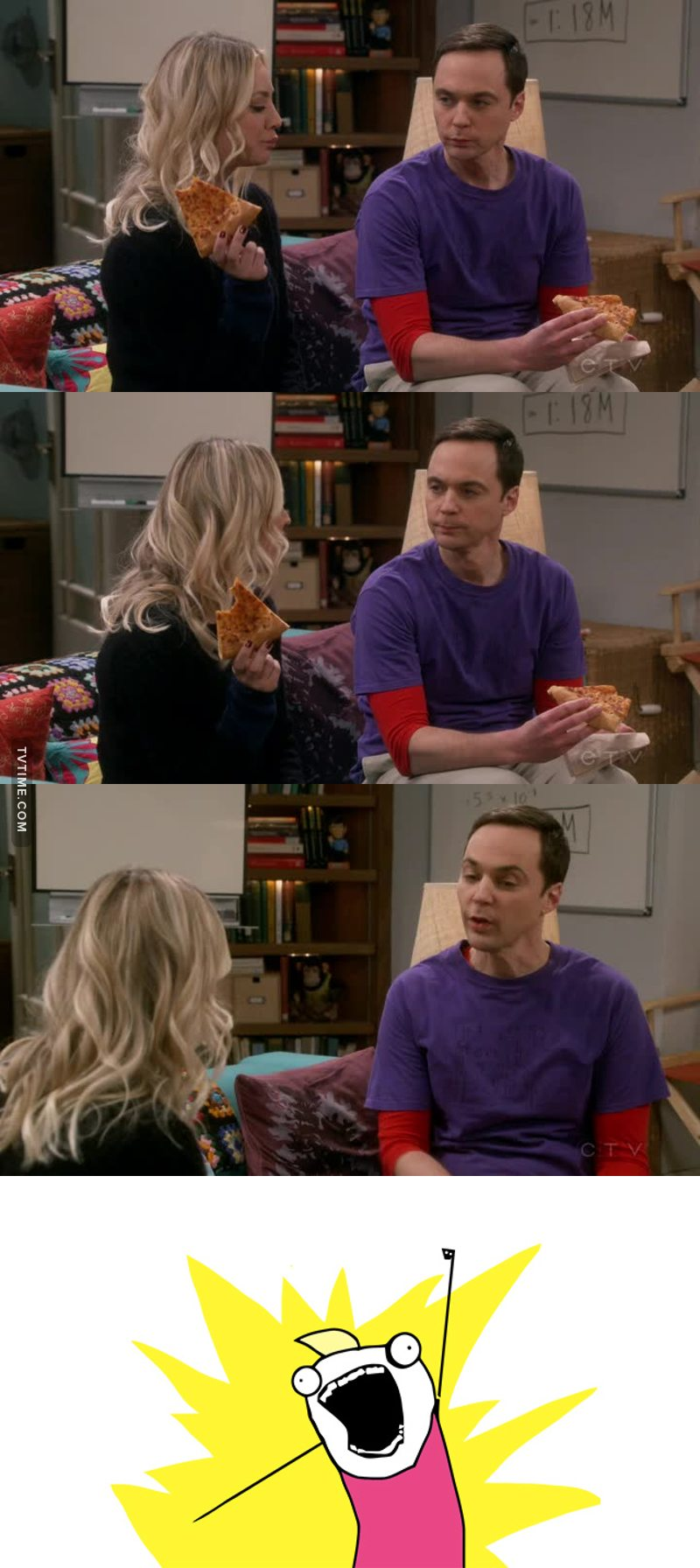 Penny and Sheldon have great chemistry together, alway make me either laugh or appreciate the effort of both of them