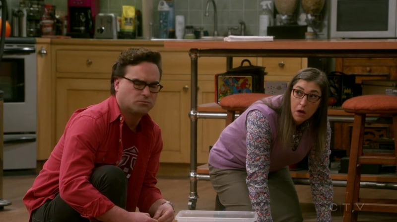 Penny: Sorry. I have to stop at Sheldon's and help him solving string theory. Amy: