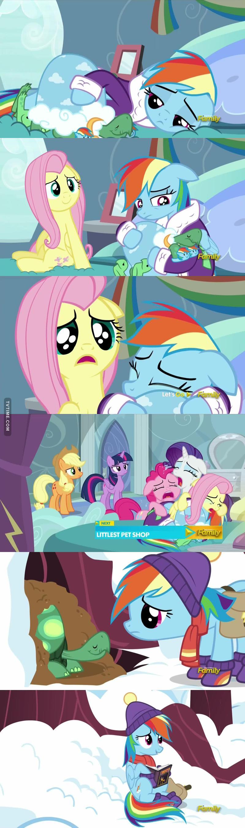 Pobre Rainbowdash! Ainda bem que ela tem as amigas por perto ❤️
