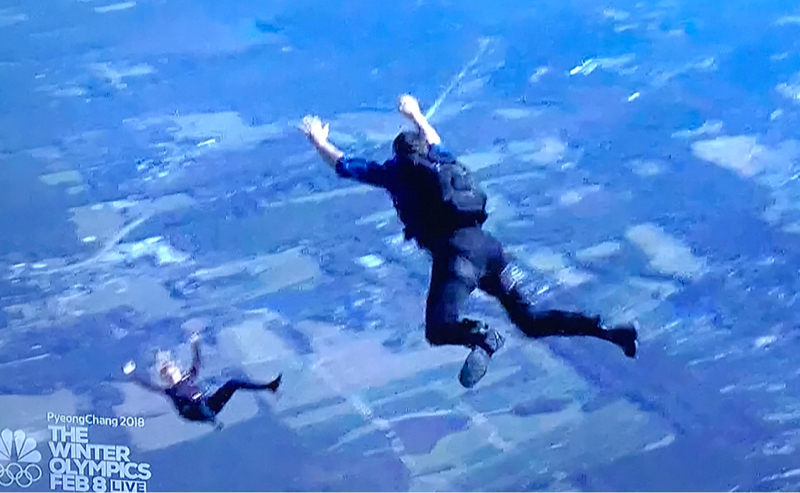 Weller should have pulled the dead woman's ripcord.  Someone on the ground might have a big surprise on the way. 😳