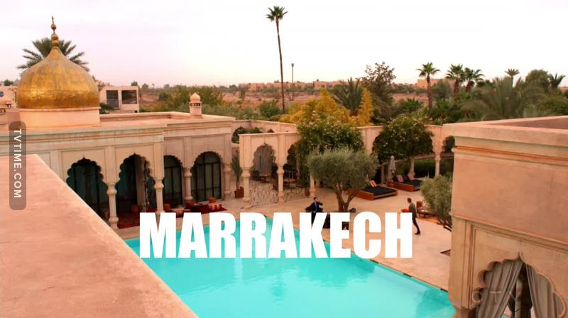 Marrakech, Barcelona... remind me to try and enter the supervillain career because damn, Roman visits beautiful places.