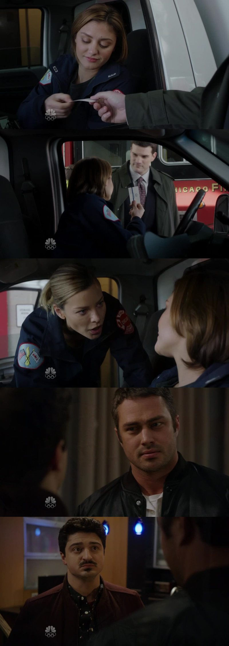 Shay is one of my favorite characters and that new partner... But in the end she was nice, afterall! Also, Otis and Severide's sister LOOOL