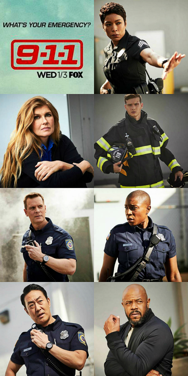 GREAT NEWS: 9-1-1 RENEWED FOR SEASON 2 AT FOX!! 💜😎📺 9-1-1 is such an inspiring tv show! Perfect cast. ✌️💙