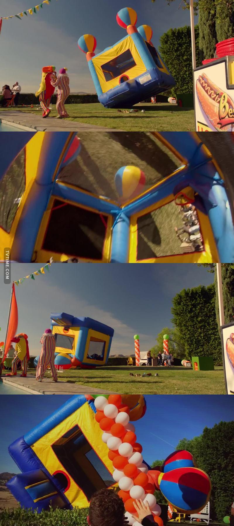 Last week it was rollercoasters this week it's bouncy houses, is Ryan Murphy waging a war on childhood fun?!