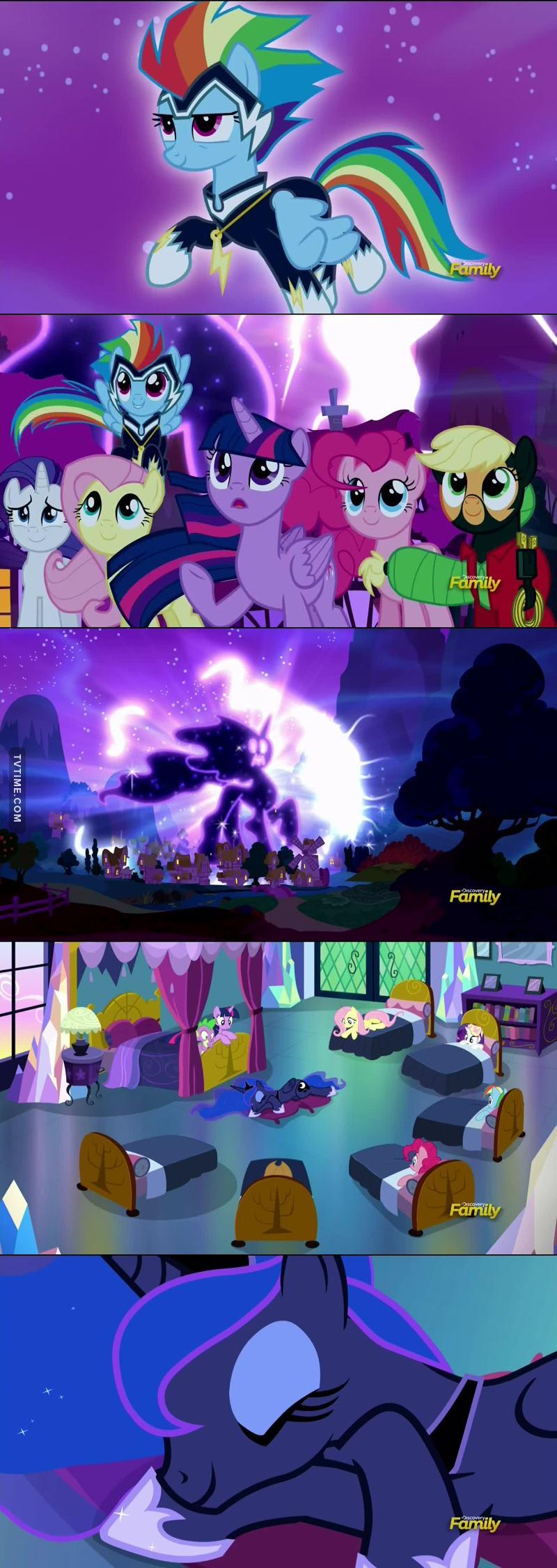Pobre princesa Luna, se castigando esse tempo todo