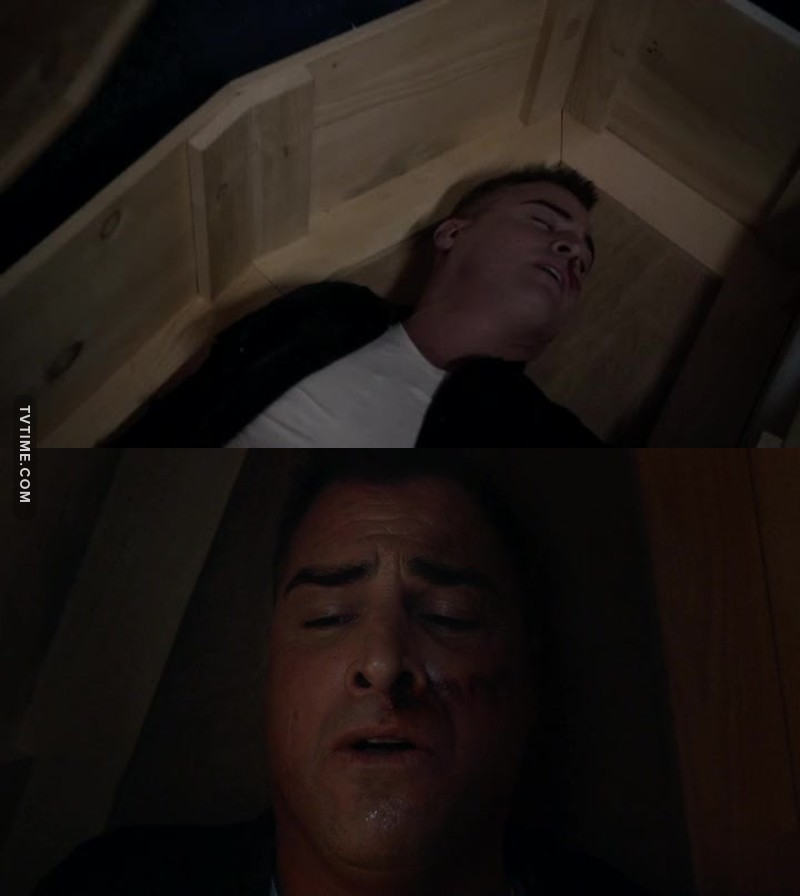 Reminder of CSI when he was buried alive!