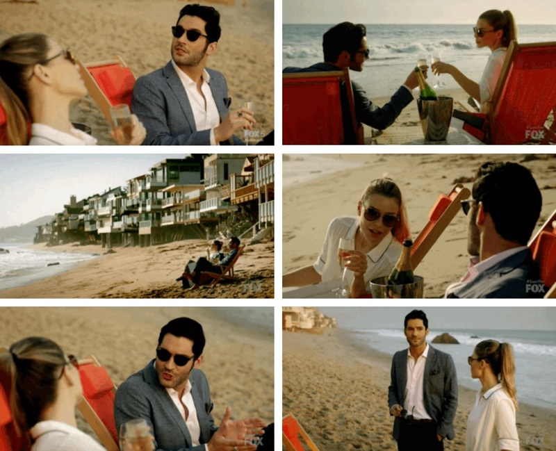 That beach scene 👍👍 They're so cool in their sunglasses 😎😏 I can imagine them on their honeymoon, lying under the sun and sipping their drinks 😊