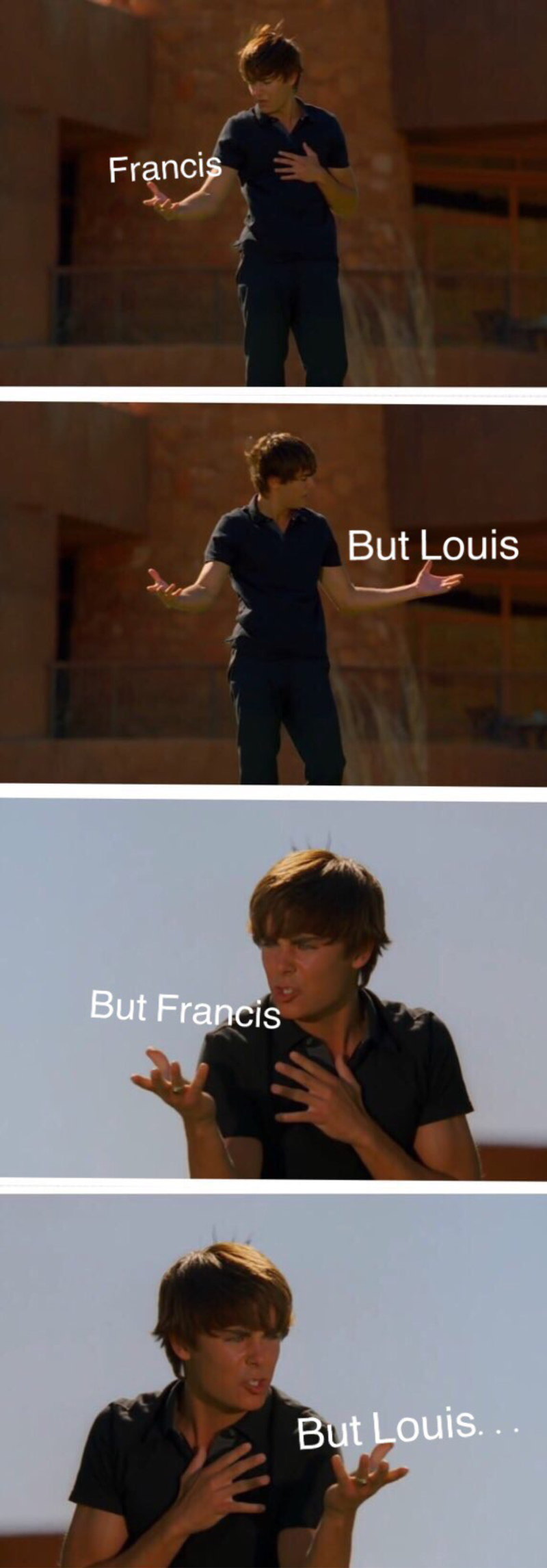 First season it was Francis and Bash... and now Louis... OH NO