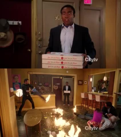 The famous pizza scene from Tumblr ! shah !! That was awesome xD