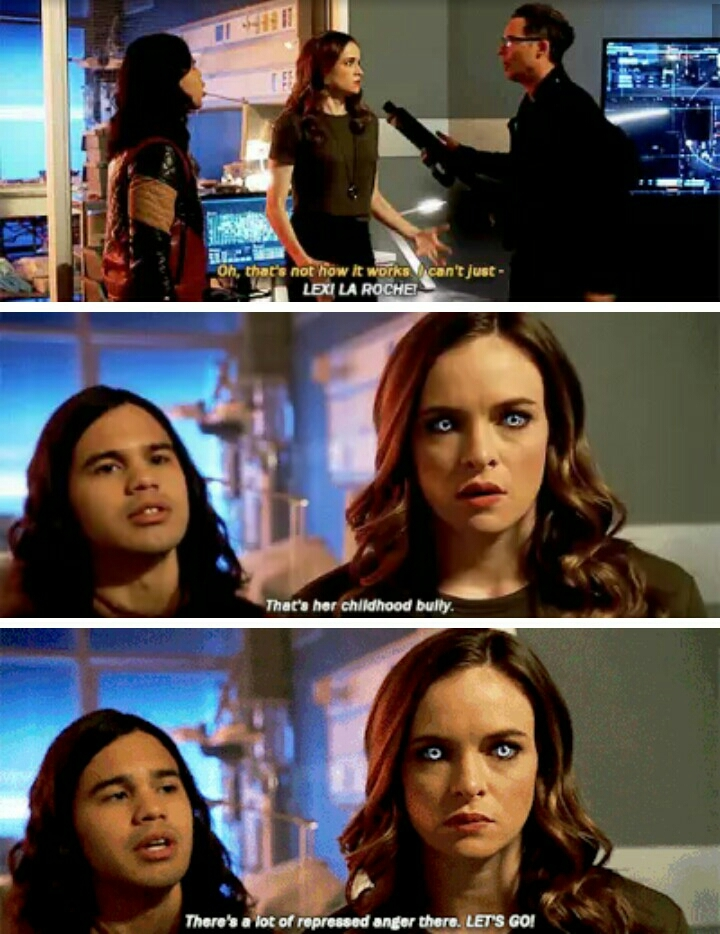 Hahaha Cisco is getting good at calling out the ice queen 😂