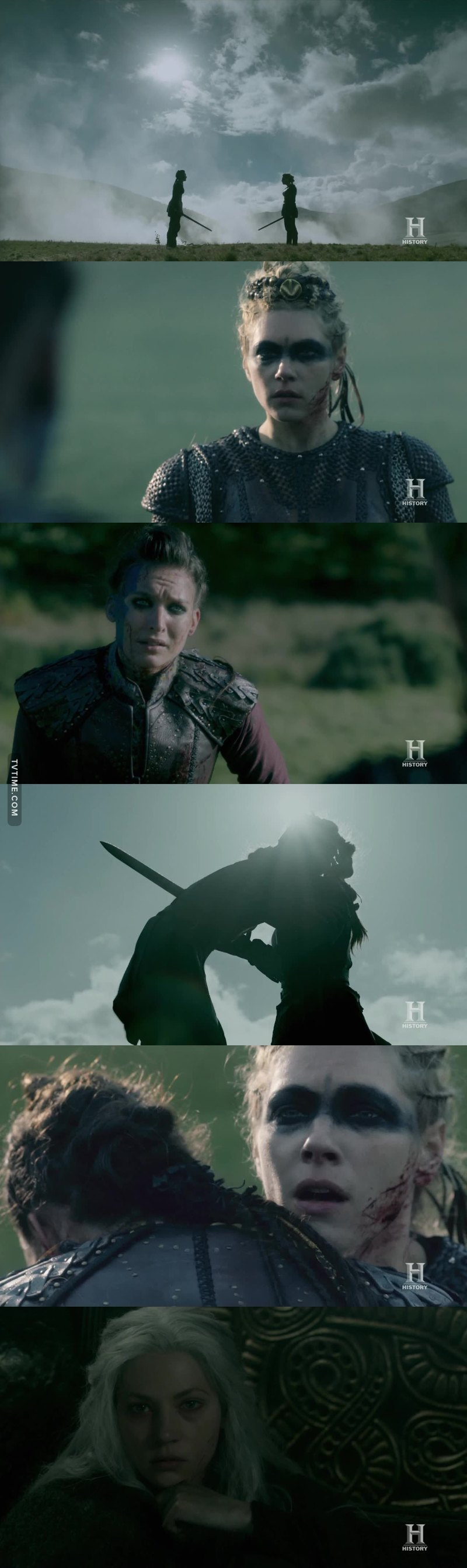 This was so beautiful and heartbreaking! Lagertha is the strongest woman ever, but that was too much even for her, she's been broken too many times. She never wanted to kill Astrid, but she never had a choice, Astrid had already decided she wanted to die by the hand of the woman she loved.