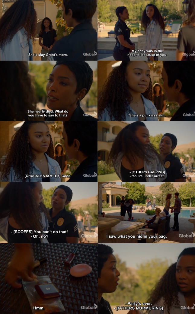 Athena Grant deffending her daughter May Grant from that bully Laila was epic! 👏👏👏 Mom's love is everything and that young girl was too rude after what Athena said what happened with her baby. Under arrest, yaaasss Queen!