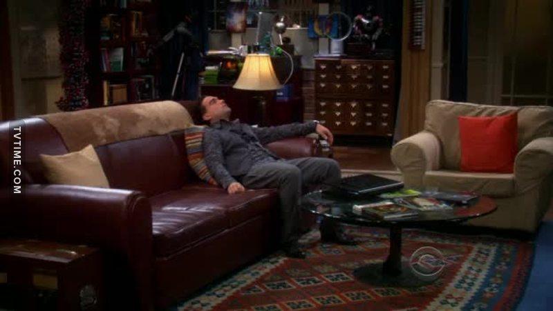 Well the Weird part that Leonard was setting on Sheldon's Spot ?!!