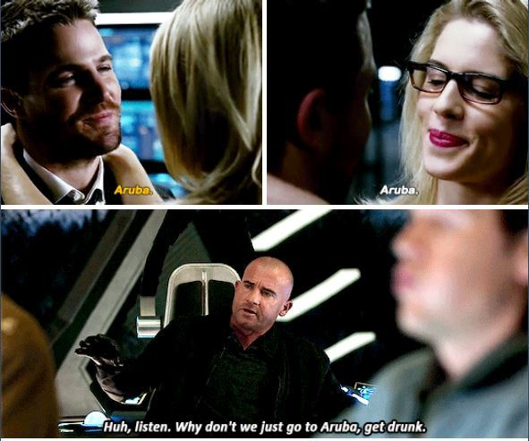 Oliver, Felicity, Mick and Aruba, a love story 😂