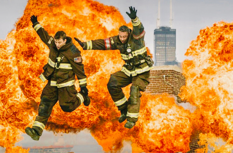 "Severide: ""and do what, jump?!"" Casey: ""yeah! 1, 2.."" Severide: ""DAMN IT CASEY!""  And now I have to wait one month. 😭"