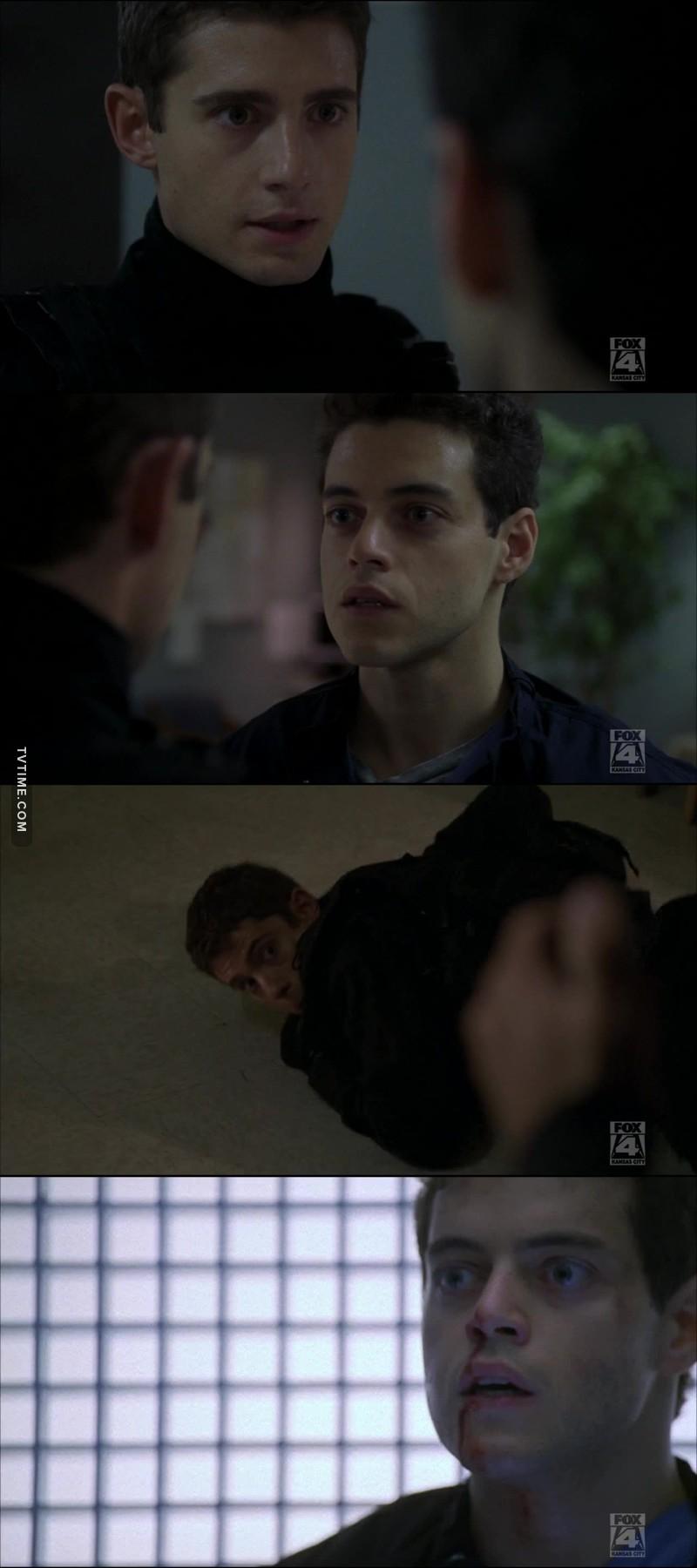 Le jeune agent Owen a eu du courage  face au terroriste.