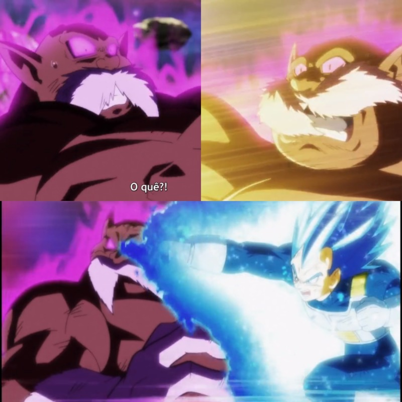 I live for this expressions of Toppo being beating by Vegeta-samaaaa