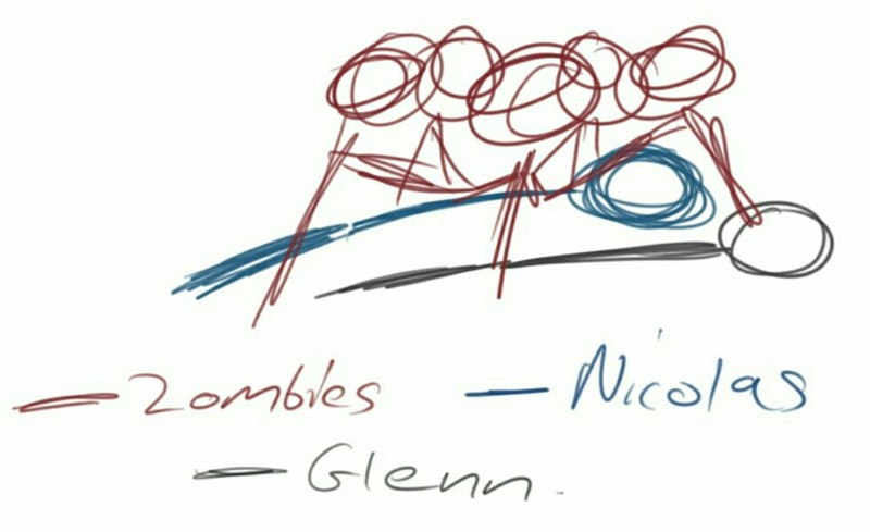 my detailed diagram that proves Glenn is alive.