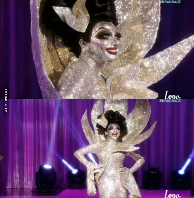I CRIED WHEN SHE CAME OUT, SHE LOOKS AMAZING, THERE IS ONLY ONE QUEEN AND HER NAME IS BIANCA DEL RIO