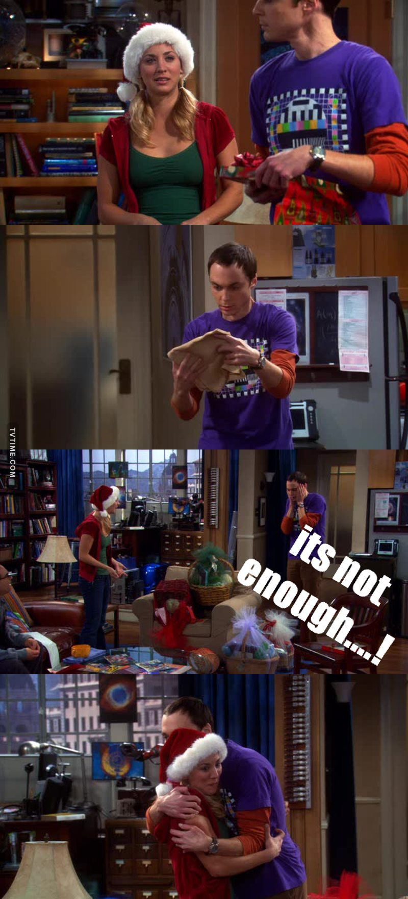 The best scenes ever....topped of with a RARE Sheldon Hug...lol