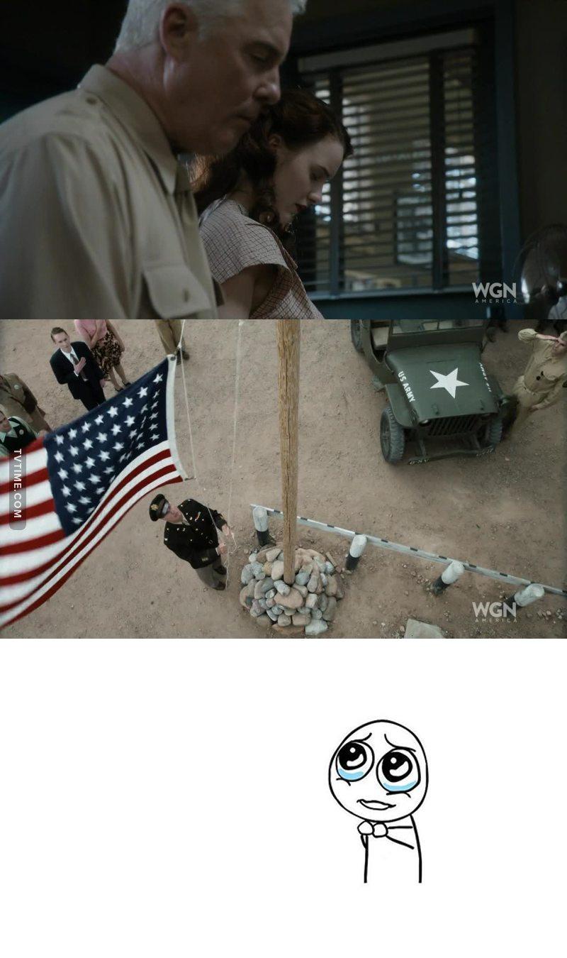 O patriotismo do Americano é maravilhoso...quem será o Brasil fosse assim.