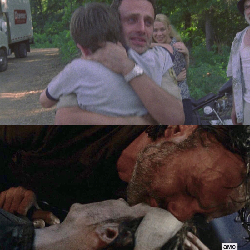 rick's first and last scenes with carl