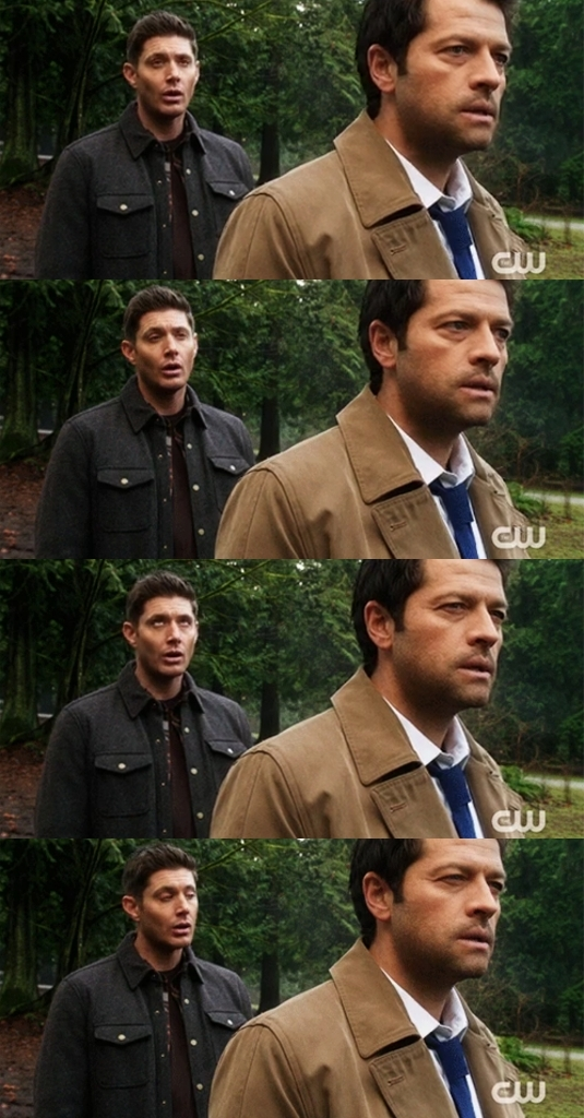 I love this eyeroll from Dean.