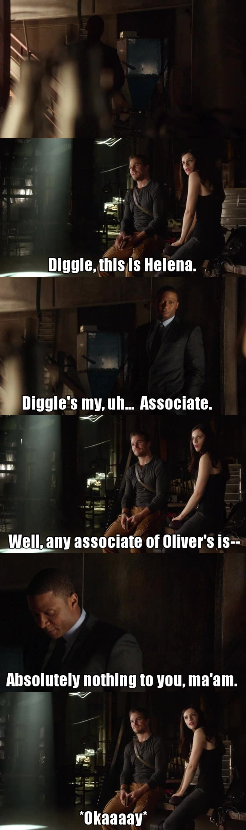 I just love him ! Diggle is awesome 🙌❤️