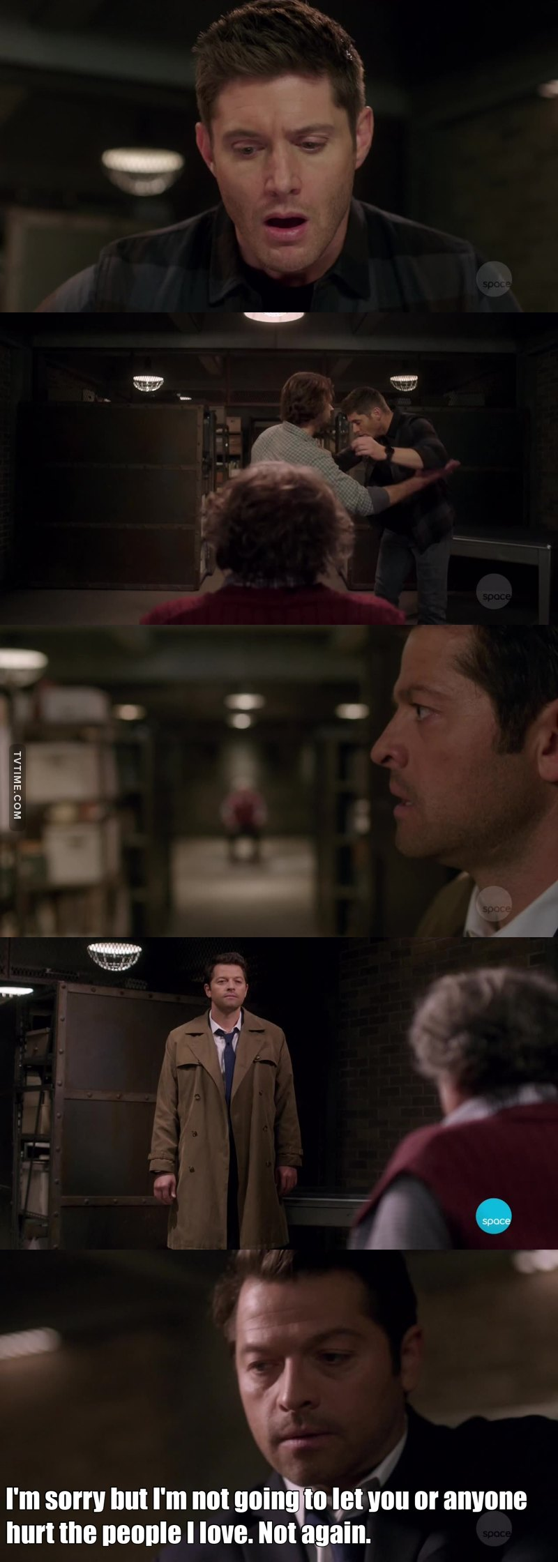 Aww Cas got mad because he hurt his boyfriend.. So many Destiel feels in this one! <3