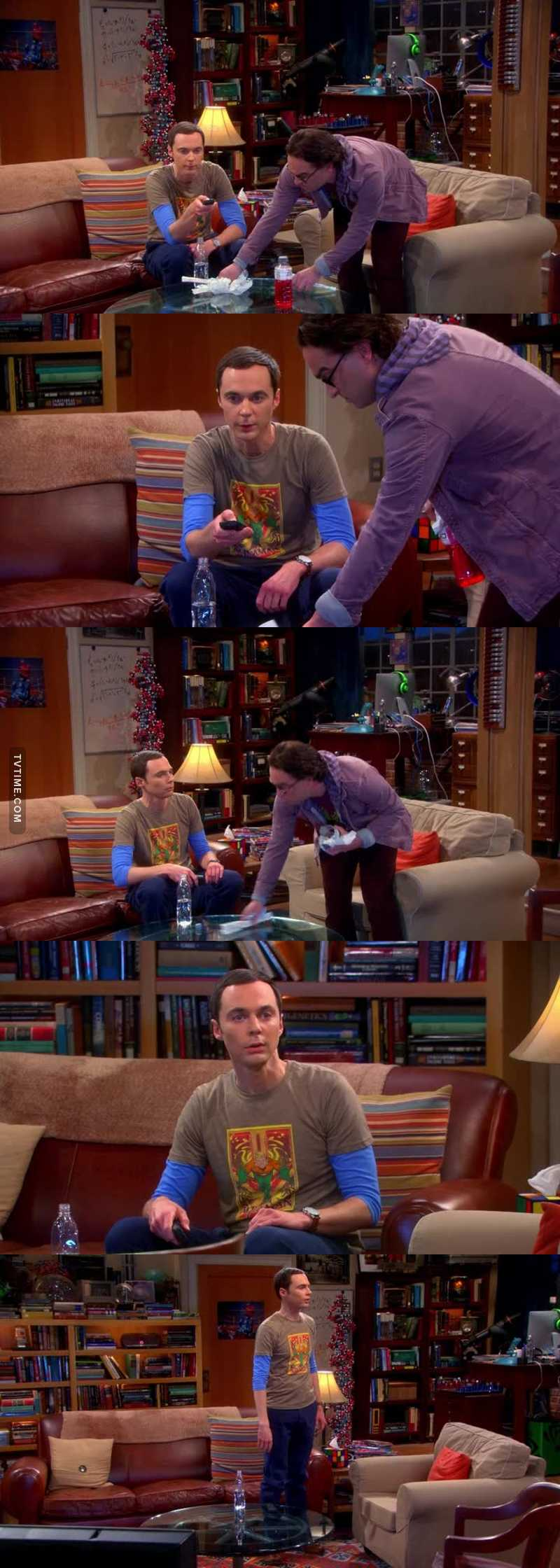 Ho la stessa reazione di Sheldon quando cancellano una serie! 😂😂😂😂