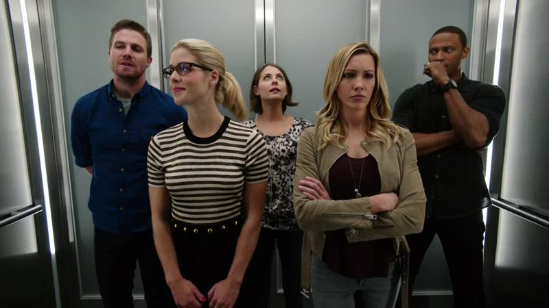 Diggle: What the hell is going on? Laurel: why am I even here? Thea: I like elevators Oliver: wait for it... Felicity: I'm rich and awesome and I love my new lair 🔝