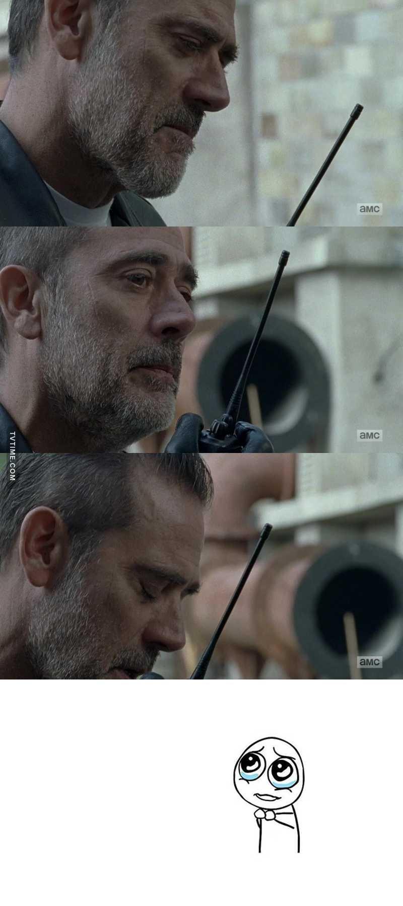 Sarà pure un bastardo, ma credo fosse davvero dispiaciuto per la morte di Carl