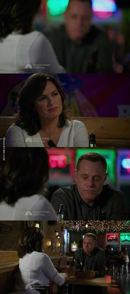 Voight and Olivia at Molly's!!! 🎉🎉🎉 Am I the only one shipping them? ❤️