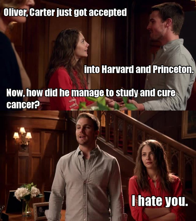 Thea and Oliver are siblings goals! 😝