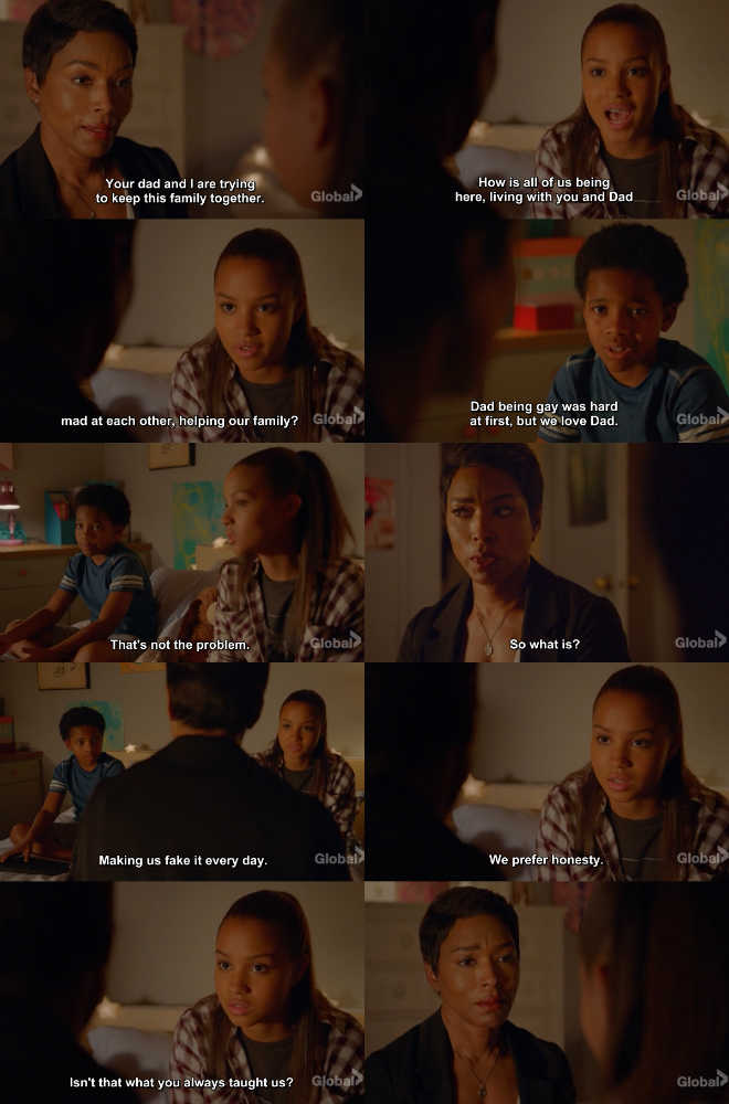 WOW! I'm loving this conversation with Athena and her babies. It's truly inspiring to see sensible and sincere conversations like this one in a series as authentic as 9-1-1. I like the evolution that her family is taking, showing that acceptance and at the same time the conflicts that can arise in a family. Well done!!!