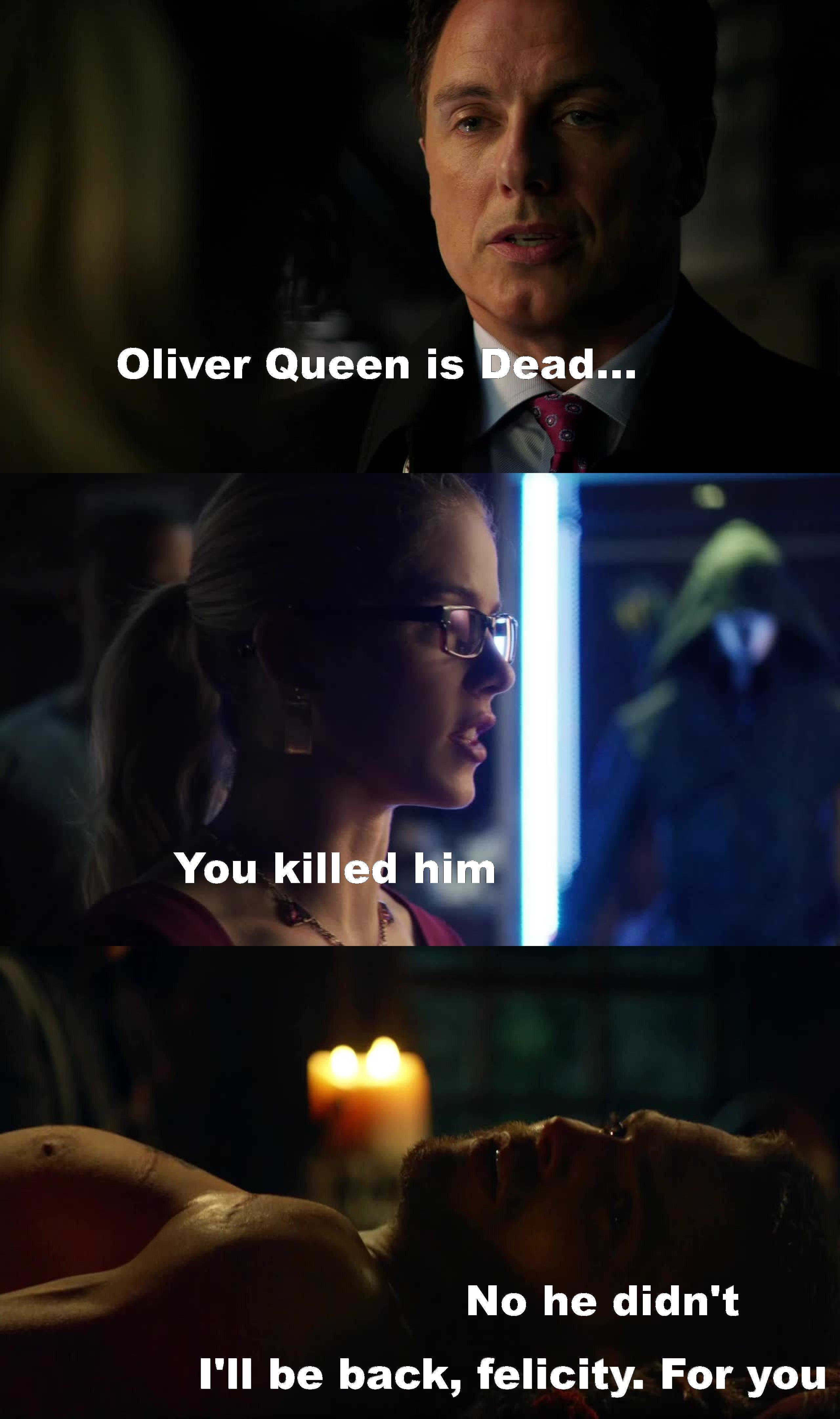 Poor Felicity... I really hate Malcom.